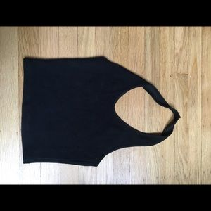Top shop black cropped top